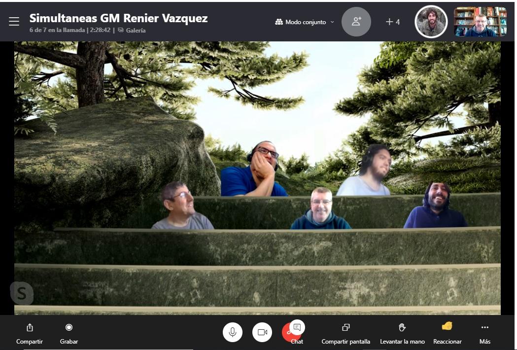 Simultáneas online con el GM Renier Vázquez Igarza